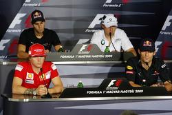 FIA press conference: Kimi Raikkonen, Scuderia Ferrari, Jaime Alguersuari, Scuderia Toro Rosso, Robert Kubica, BMW Sauber F1 Team, Mark Webber, Red Bull Racing