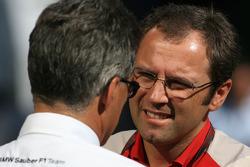 Dr. Mario Theissen, BMW Sauber F1 Team, BMW Motorsport Director and Stefano Domenicali, Scuderia Ferrari Sporting Director