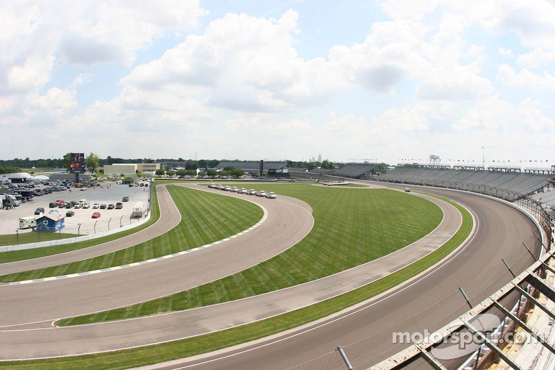 Turns 1 and 2 at the Indianapolis Motor Speedway