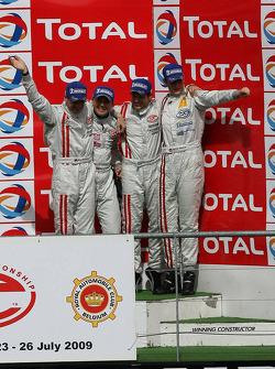 Podium: third place Marcel Fässler, Henri Moser, Alexandros Margaritis and Marc Basseng