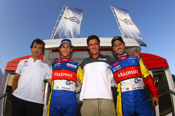 Portuguese and Brazilian drivers photoshoot: Miguel Ramos, Bruno Senna, Francisco Cruz Martins and Tiago Monteiro