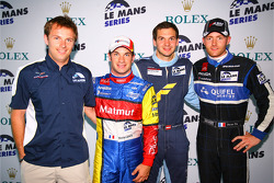 GT1 pole winner Yann Clairay, LMP1 and overall pole winner Nicolas Lapierre, GT2 pole winner Richard Lietz, LMP2 pole winner Olivier Pla