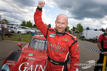 DP and overall pole winner Jon Fogarty celebrates