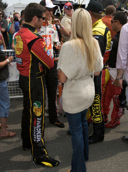 Martin Truex Jr., Earnhardt Ganassi Racing Chevrolet with his girlfriend