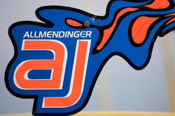 Pit board for A.J. Allmendinger, Richard Petty Motorsports Dodge