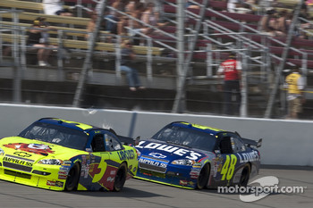 Mark Martin and Jimmie Johnson