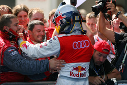Race winner Martin Tomczyk, Audi Sport Team Abt Audi A4 DTM  celebrates with his team