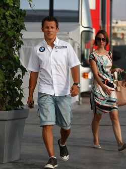 Christian Klien, Test Driver, BMW Sauber F1 Team and Patricia Papen, Wife of Nick Heidfeld