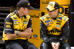 Matt Kenseth, Roush Fenway Racing Ford talks with crew chief Drew Blickensderfer