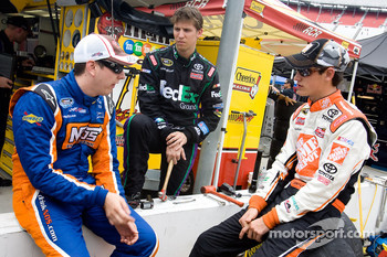 Kyle Busch, Joe Gibbs Racing Toyota, Denny Hamlin, Joe Gibbs Racing Toyota and Joey Logano, Joe Gibbs Racing Toyota