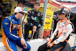 Kyle Busch, Joe Gibbs Racing Toyota, Denny Hamlin, Joe Gibbs Racing Toyota and Joey Logano, Joe Gibbs Racing Toyota