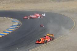 Scott Dixon, Target Chip Ganassi Racing, Franck Montagny, AFS Racing/Andretti Green
