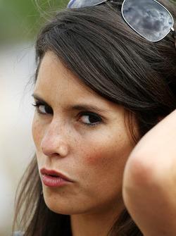 Marion Jolles girlfriend of Romain Grosjean, Renault F1 Team