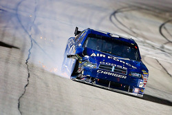 Reed Sorenson, Richard Petty Motorsports Dodge nurses his Air Force Dodge off the fronstretch after an accident