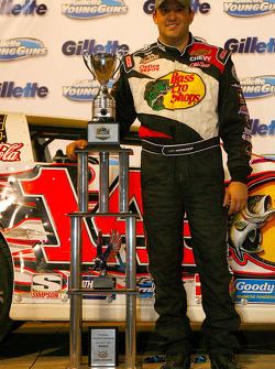 Tony Stewart, driver of the #14 Bass Pro Shops Chevrolet celebrates after winning