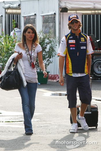 Romain Grosjean, Renault F1 Team and his girlfreind Marion Jolles