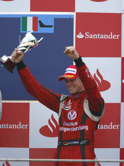 Nico Hulkenberg celebrates winning the 2009 GP2 Series championship