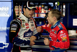 Jimmie Johnson, Hendrick Motorsports Chevrolet and Mark Martin, Hendrick Motorsports Chevrolet
