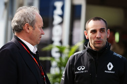 Jerome Stoll, Renault Sport F1 President with Cyril Abiteboul, Renault Sport F1 Managing Director