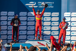 Podium: winner Lucas di Grassi, ABT Schaeffler Audi Sport, second place Stéphane Sarrazin, Venturi, third place Daniel Abt, ABT Schaeffler Audi Sport