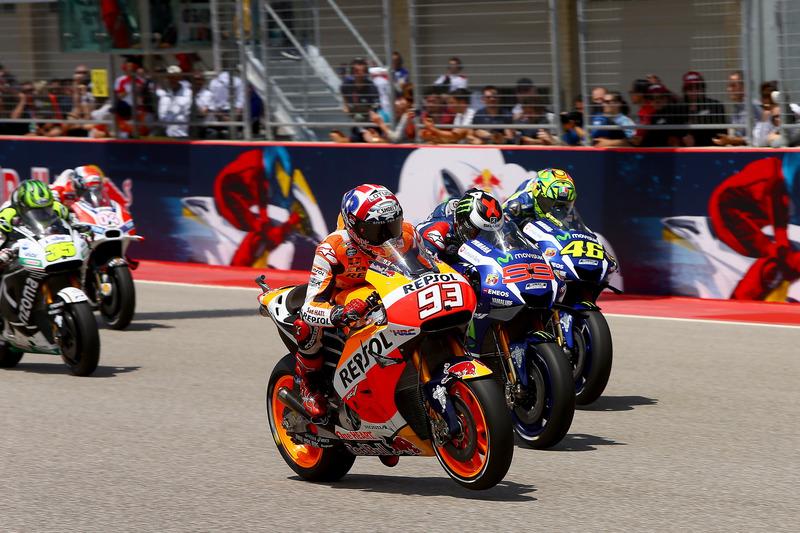 Start action; Marc Marquez, Repsol Honda Te