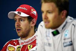 Press conference: winner Nico Rosberg, Mercedes AMG F1 Team and second place Sebastian Vettel, Ferrari