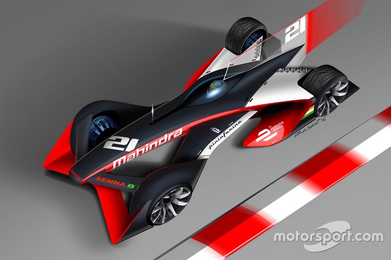 Концепт машины для серии Формула E от команды Mahindra Racing и ателье Pininfarina