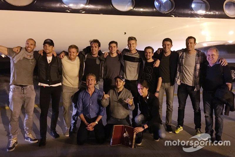 Jenson Button, Nico Rosberg, Jean-Eric Vergne, Max Verstappen, Nico Hulkenberg, Paul di Resta, Alexander Wurz, David Coulthard, Felipe Massa, y Esteban Gutiérrez