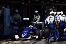 Marcus Ericsson, Sauber C35 beim Boxenstopp