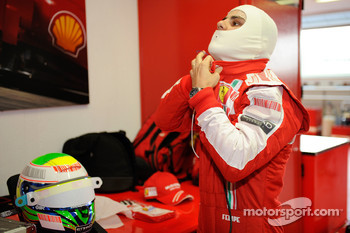 Felipe Massa, Scuderia Ferrari, gets ready for his first F1 test since his accident