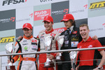 Podium: race winner and champion Jules Bianchi, ART Grand Prix Dallara F308 Mercedes, second place Sam Bird, Muecke Motorsport Dallara F308 Mercedes, third place Roberto Merhi, Manor Motorsport Dallara F308 Mercedes