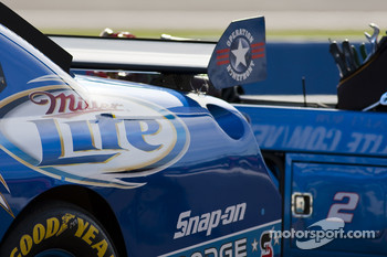 The Miller Lite Dodge sits on pit road