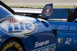 The Miller Lite Dodge sits on pit road