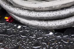 Rain falls at Lowe's Motor Speedway Charlotte
