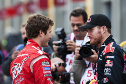 Kasey Kahne, Richard Petty Motorsports Dodge and Brian Vickers, Red Bull Racing Team Toyota