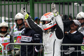 Pole winner Rubens Barrichello, Brawn GP