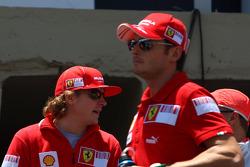 Kimi Raikkonen, Scuderia Ferrari and Giancarlo Fisichella, Scuderia Ferrari