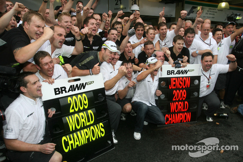 Jenson Button, Rubens Barrichello und das Brawn-Team