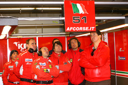 AF Corse team members watch qualifying
