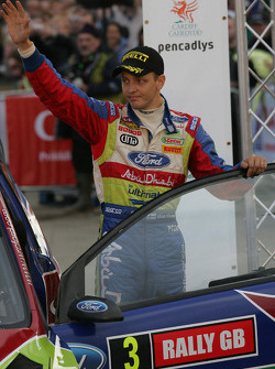 Podium: second place Mikko Hirvonen