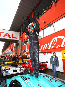 FIA-GT GT1 champion Andrea Bertolini celebrates