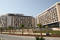 The New Abu Dhabi Yas Marina Circuit, new hotels built by the circuit, the Radisson blu and the Park inn