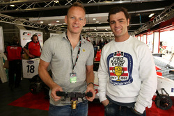 Shane Byrne former British Superbike Champion with Fonsi Nieto World Superbike Rider