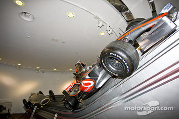 Mclaren Mercedes F1 car inside Mercedes Benz World