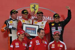 Ferrari Challenge: Mondiale Shell podium