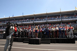 Drivers stand for the Australia National Anthem