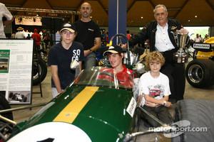 Sir Jack Brabham with his grandchildren, and David Brabham in 2009