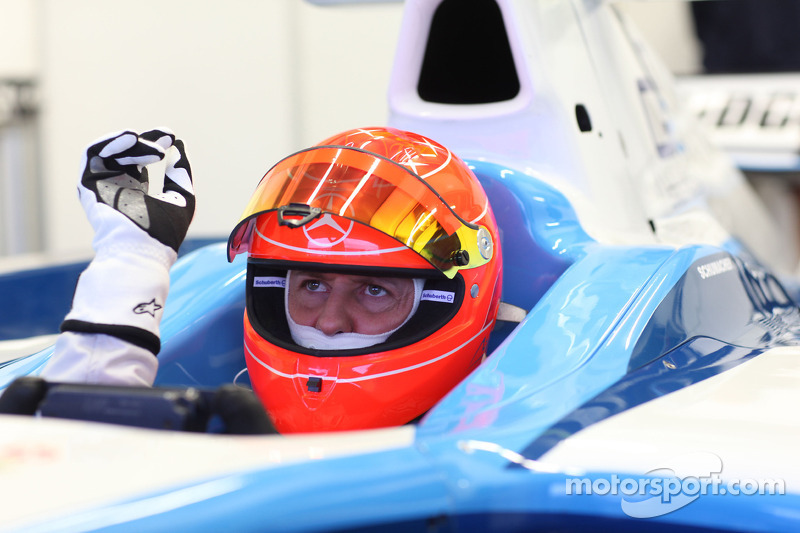 Warm-up im Formelauto