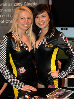 Promo girls at the Autosport Show
