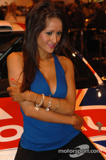Promo Girl on Chris Meeke's IRC Car